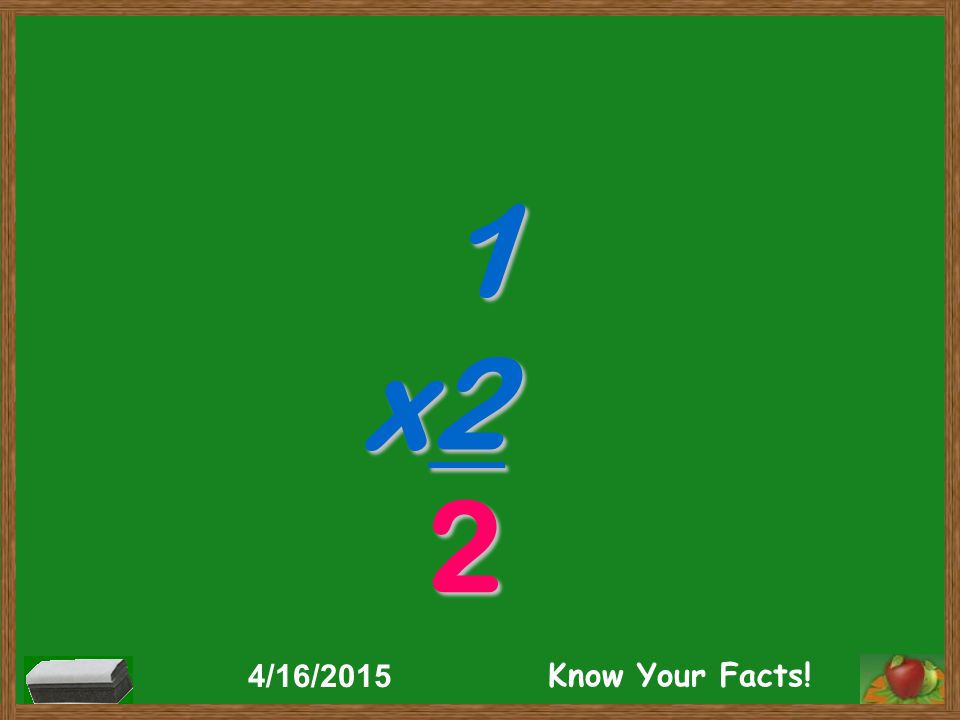 1 x2 2 4/16/2015 Know Your Facts!