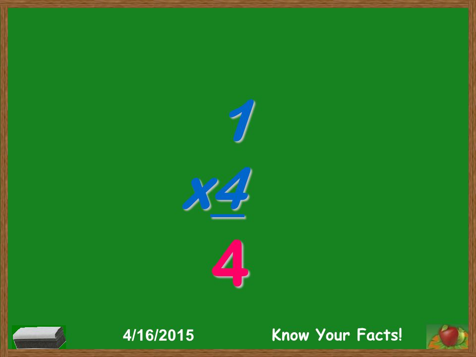 1 x4 4 4/16/2015 Know Your Facts!