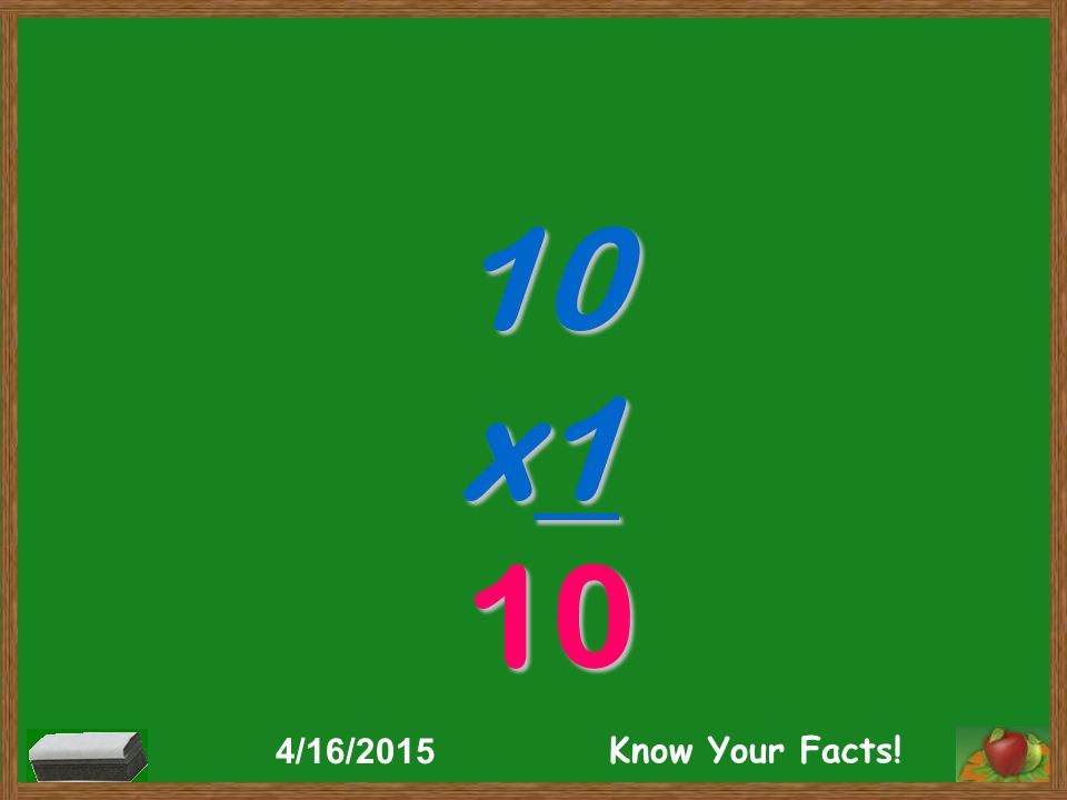 10 x1 10 4/16/2015 Know Your Facts!