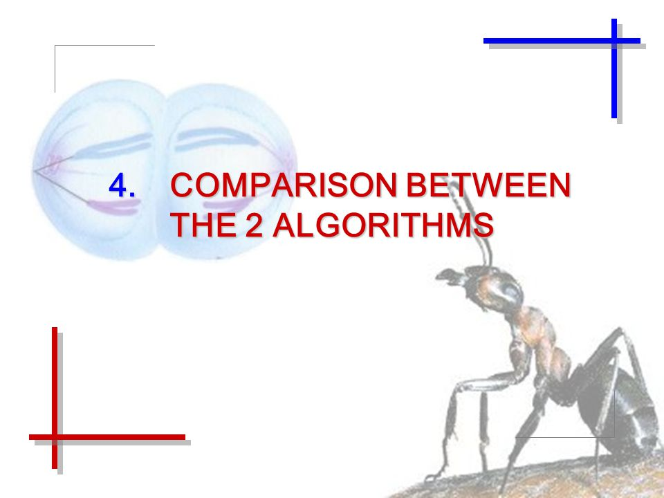 4.COMPARISON BETWEEN THE 2 ALGORITHMS