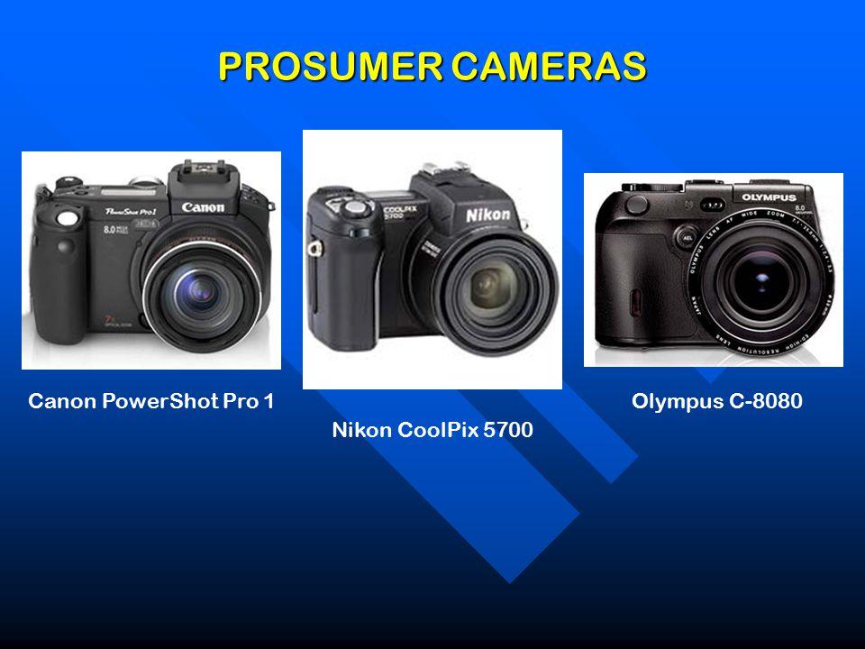 PROSUMER CAMERAS Canon PowerShot Pro 1 Nikon CoolPix 5700 Olympus C-8080