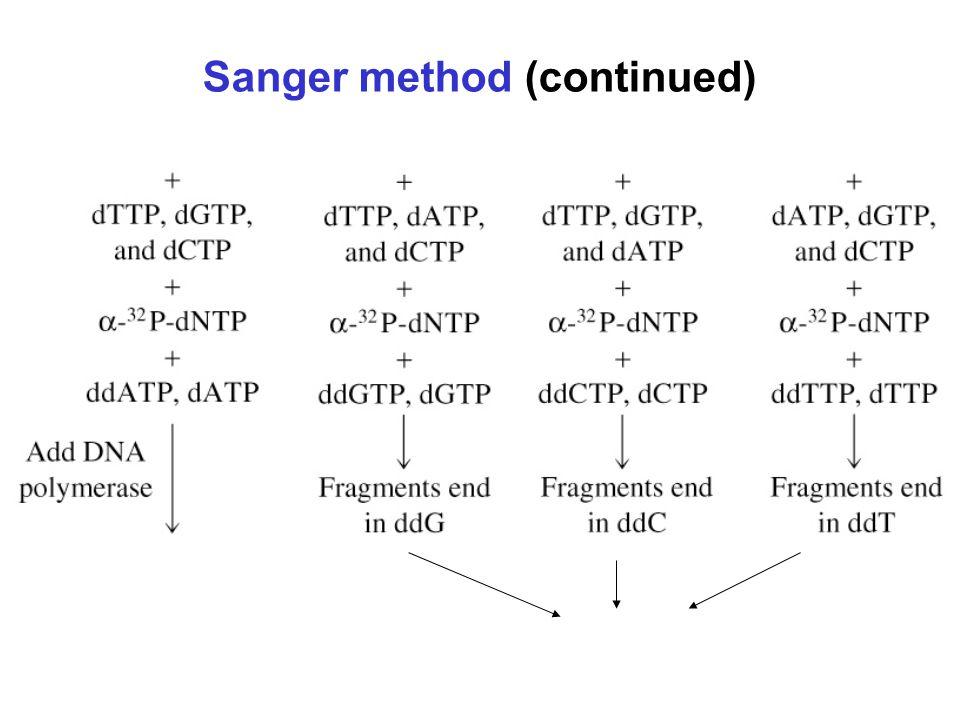 Sanger method (continued)