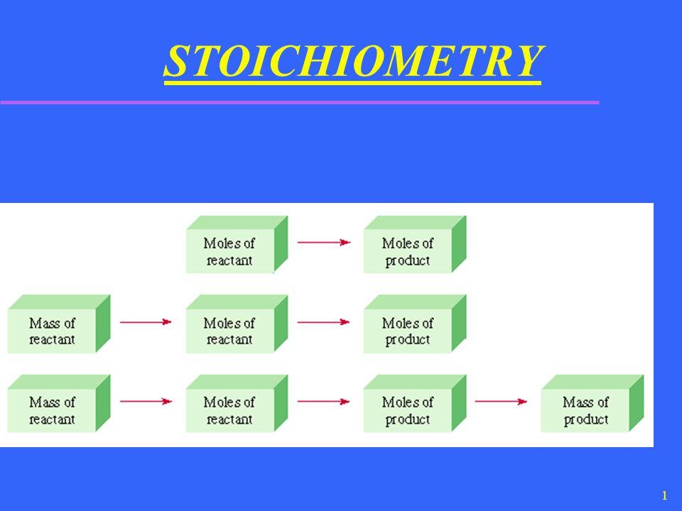 1 STOICHIOMETRY