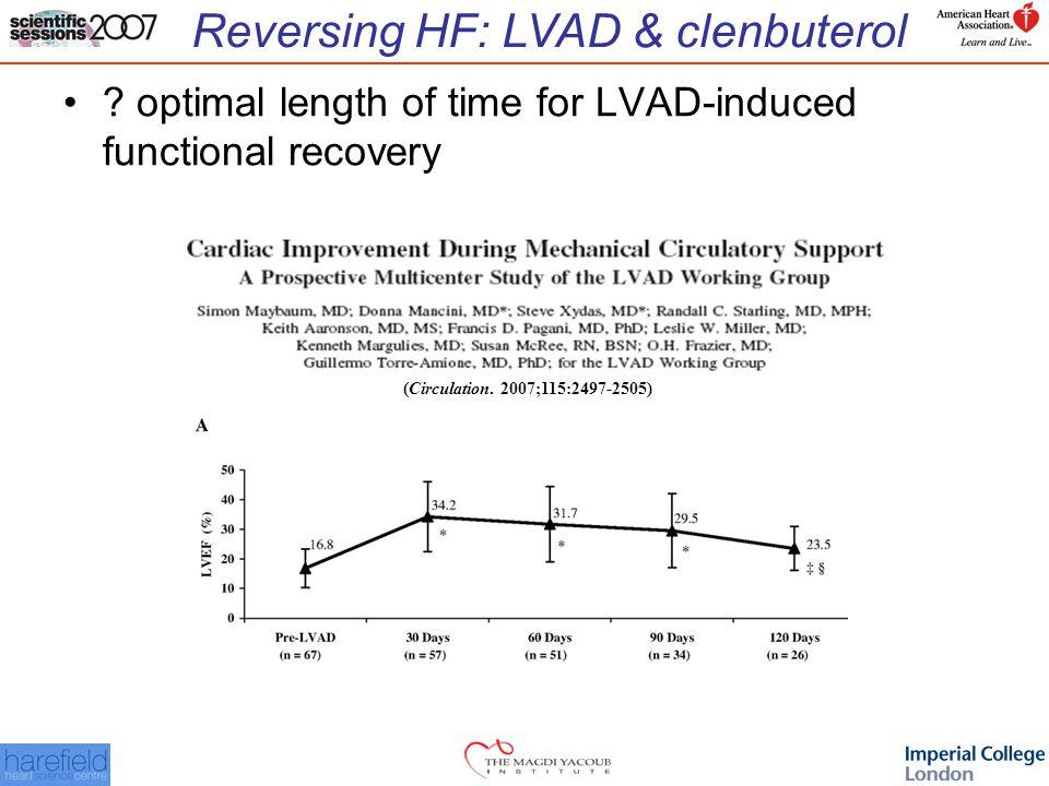 Reversing HF: LVAD & clenbuterol .