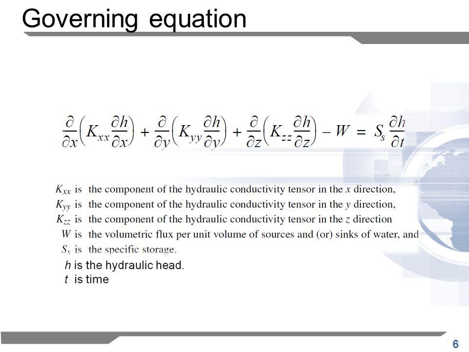 6 Governing equation