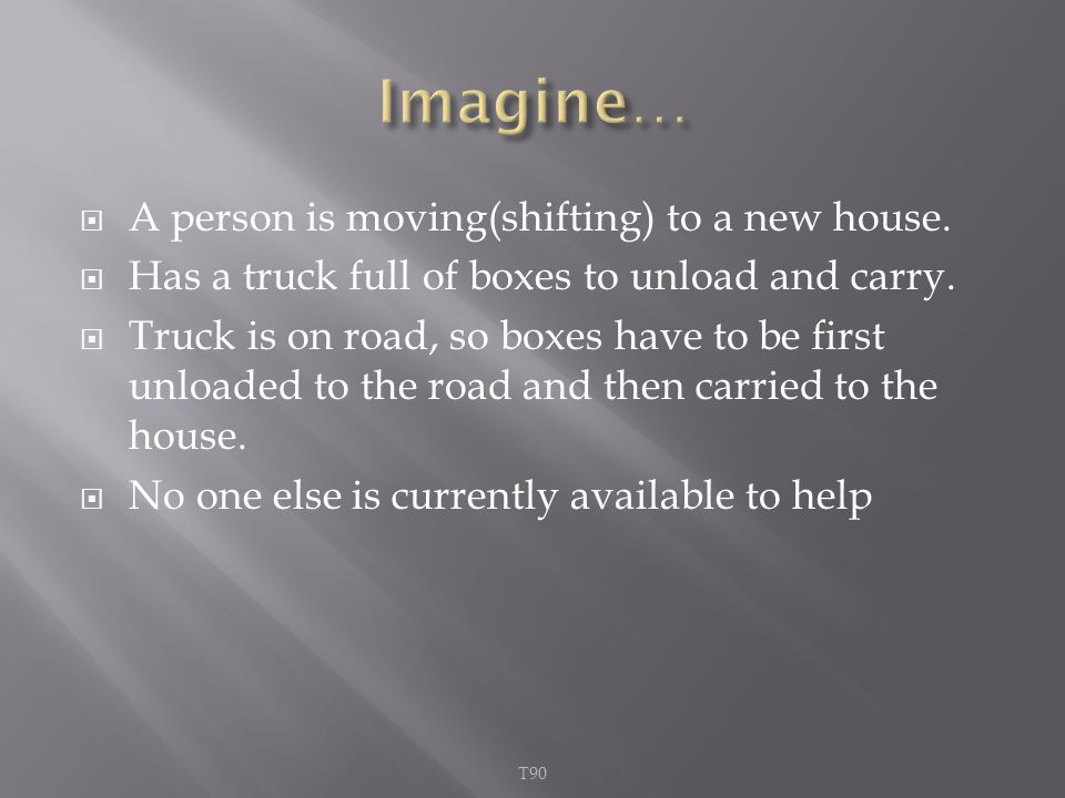  A person is moving(shifting) to a new house.  Has a truck full of boxes to unload and carry.