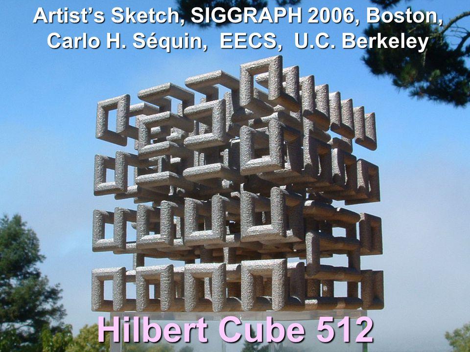 Artist's Sketch, SIGGRAPH 2006, Boston, Carlo H.Séquin, EECS, U.C.