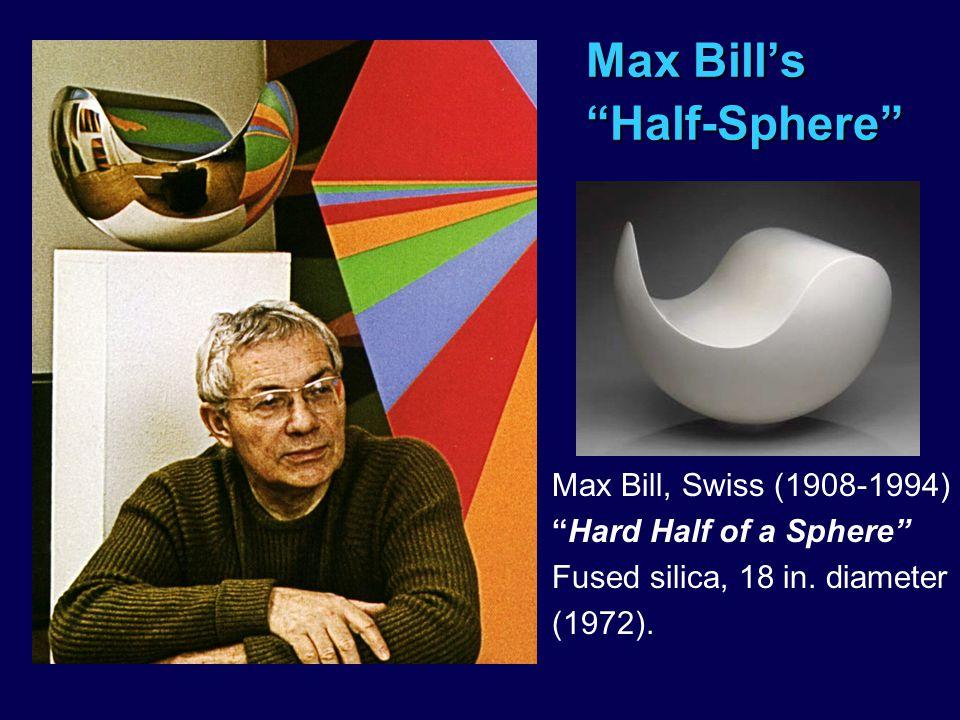 Max Bill's Half-Sphere Max Bill, Swiss (1908-1994) Hard Half of a Sphere Fused silica, 18 in.