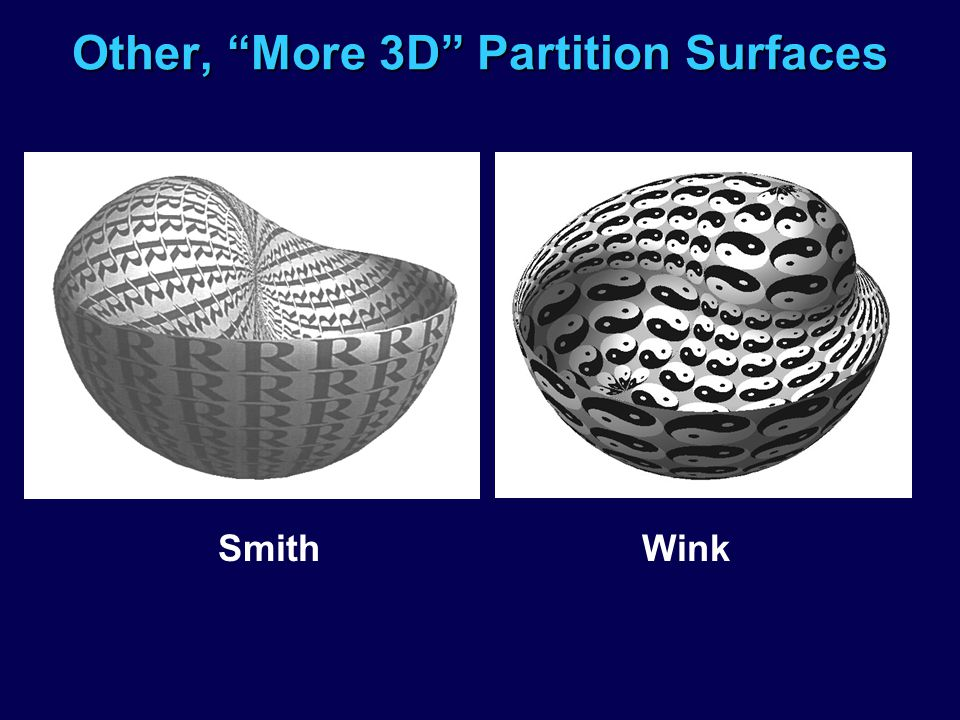 Other, More 3D Partition Surfaces Smith Wink