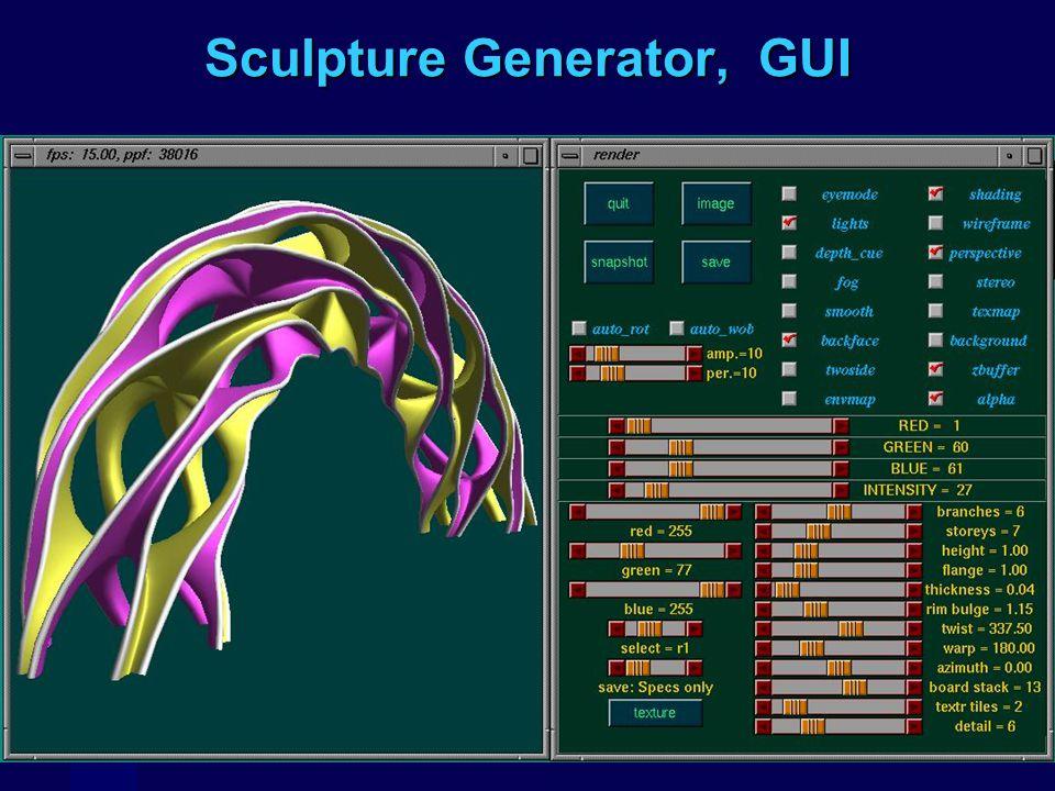 Sculpture Generator, GUI