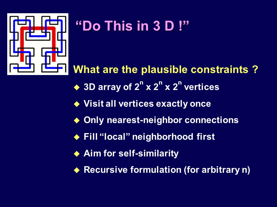 Do This in 3 D ! What are the plausible constraints .