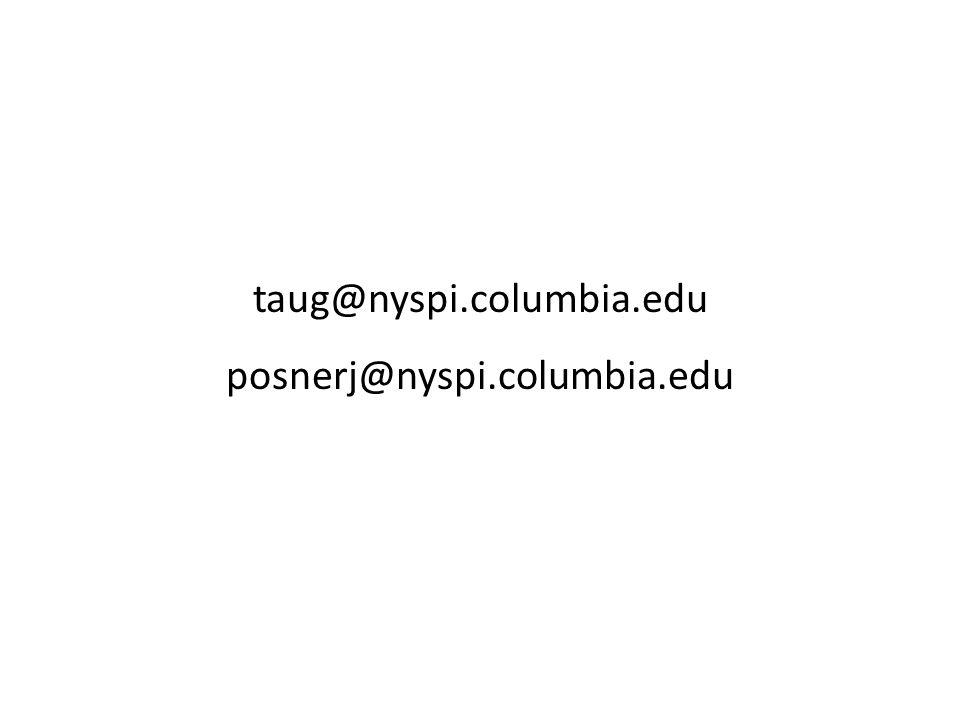 taug@nyspi.columbia.edu posnerj@nyspi.columbia.edu