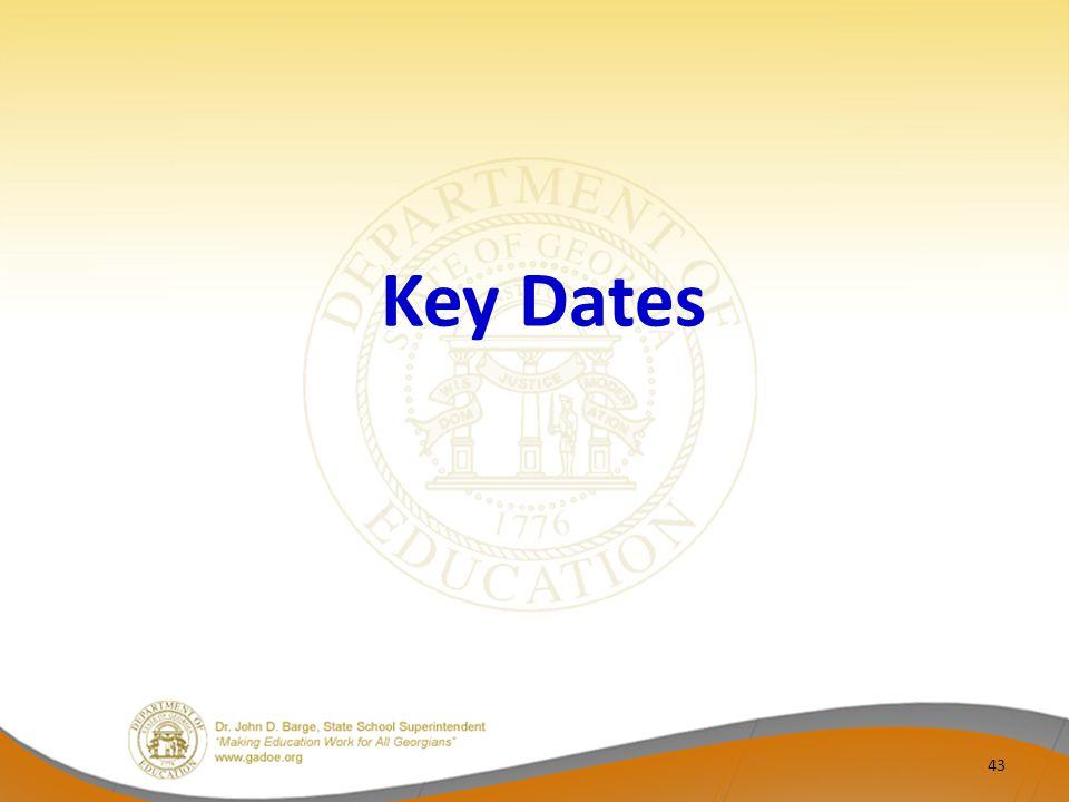 Key Dates 43