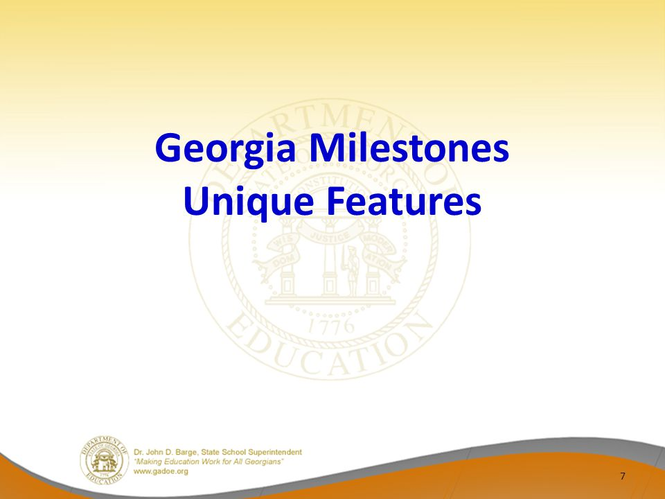 Georgia Milestones Unique Features 7