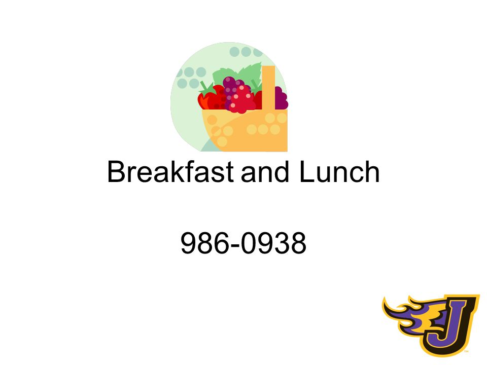 Breakfast and Lunch 986-0938