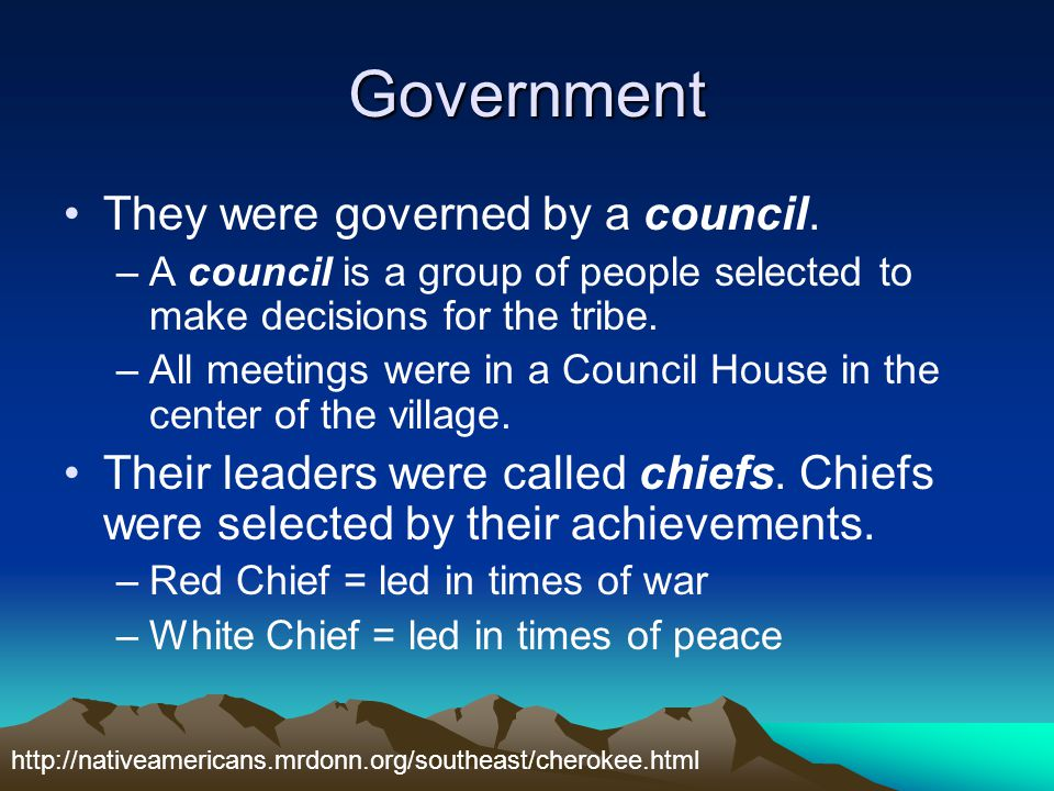 Government They were governed by a council.