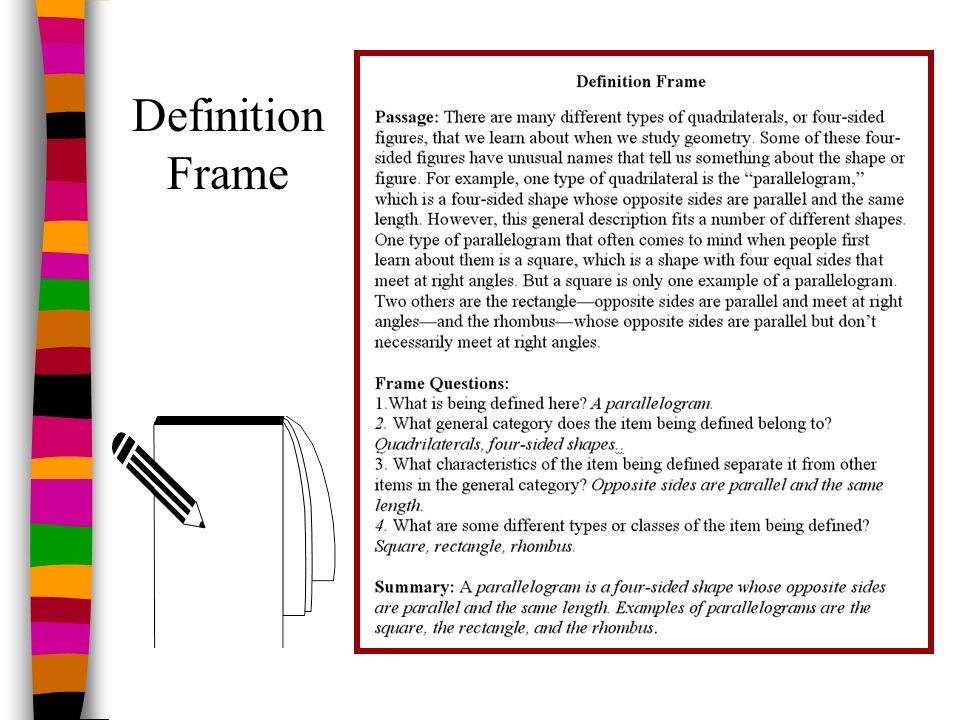 Definition Frame