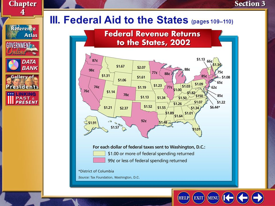 Section 3-7 III.Federal Aid to the States (pages 109–110)