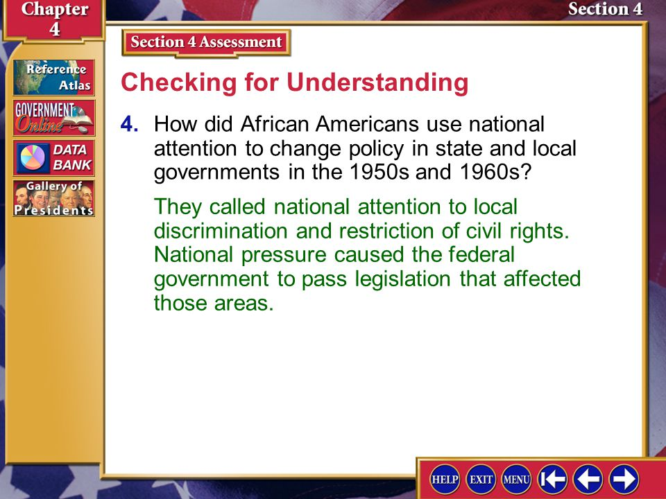 Section 4 Assessment-3 3.Identify public policy.