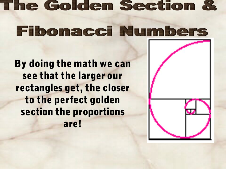 Remember the spiral we created using the Fibonacci Numbers.
