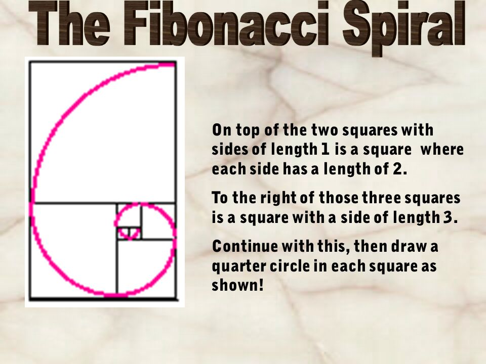 On top of the two squares with sides of length 1 is a square where each side has a length of 2.