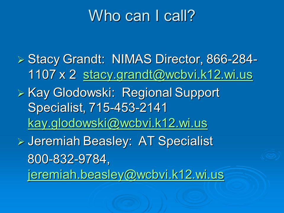 Who can I call.