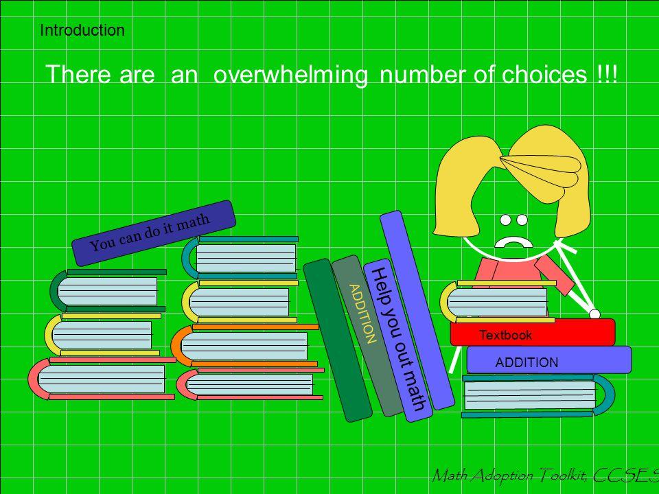 ALGEBRA READINESS A / B = C IMAP / CRP Recommended ALGEBRA READINESS Programs : 1.Ramp-Up Algebra, America's Choice 2.Odyssey Focus Math: Algebra Readiness 3.CA Algebra Readiness: Concepts, Skills, and Problem Solving 4.Holt CA Algebra Readiness 5.I Can Learn Fundamentals of Math, Algebra, Pre-Algebra, and Geometry 6.McDougal Littell Algebra Readiness 7.Algebra Readiness, Mind Institute 8.Prentice Hall Mathematics CA Algebra Readiness 9.Connecting to Algebra for Algebra Readiness, Pearson 10.Introduction to Algebra, UCLA Mathematics Department Introduction Math Adoption Toolkit, CCSESA