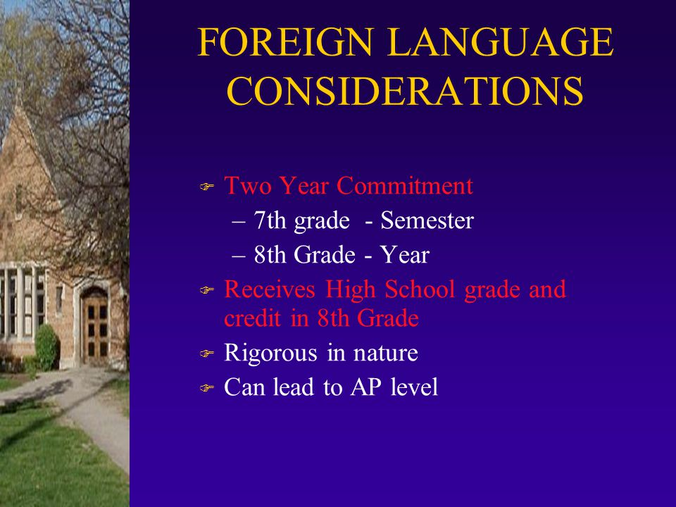 SELECT ONLY ONE F French - Semester F Spanish- Semester F Critical Thinking - Quarter F Literature Interpretation* - Quarter