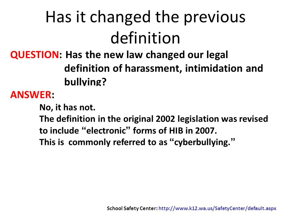 QUESTION: What is that definition of HIB.