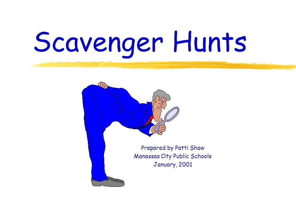 What are Scavenger Hunts .