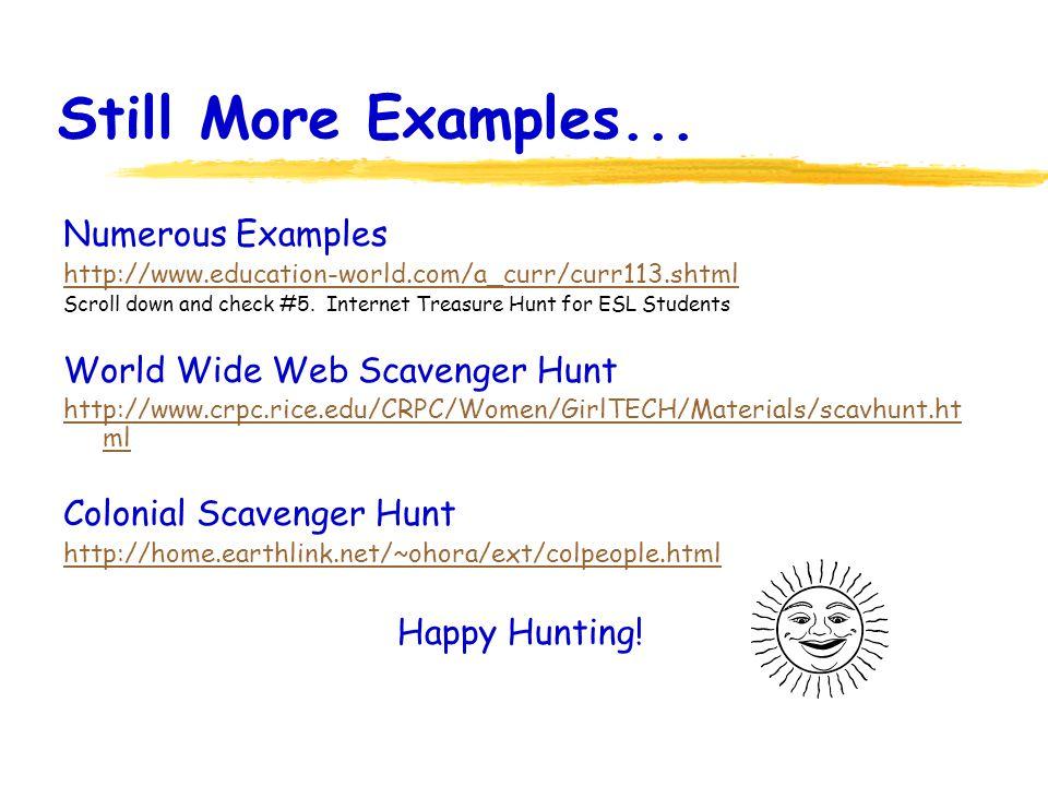 Sample Scavenger Hunt Question 1.