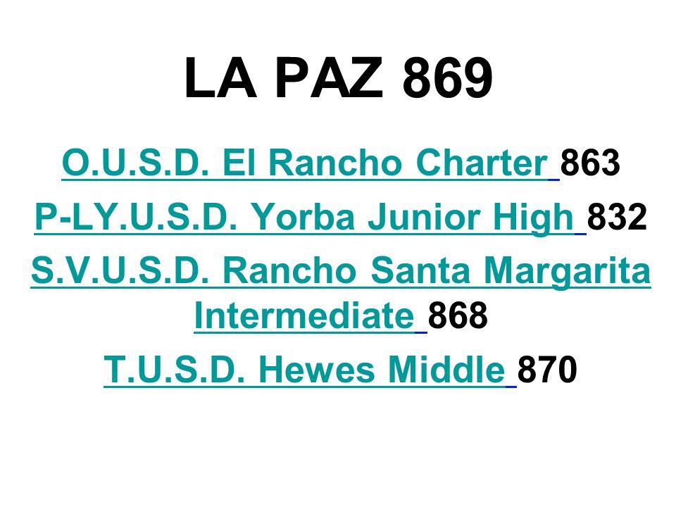 LA PAZ 869 O.U.S.D. El Rancho CharterO.U.S.D. El Rancho Charter 863 P-LY.U.S.D.