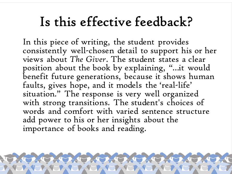 Is the feedback standards-based.ELA4W2 The student demonstrates competence in a variety of genres.