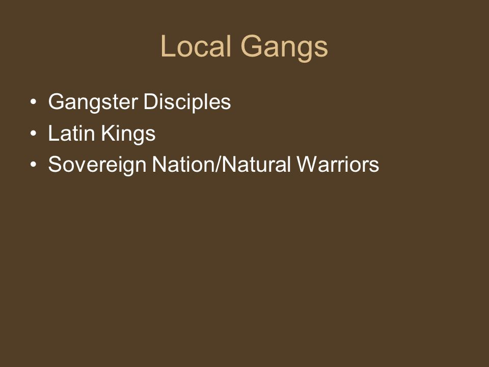 Gangster Disciples (Folks) Symbols for folk and GDs Six Point Star (Folk) The letters GD Initials BOS OR BOSS (GD) Raised pitchfork – three prong pointing up(folk) Number 6 (folk) Heart with horns (folk) Bent ear bunny Three point crown.