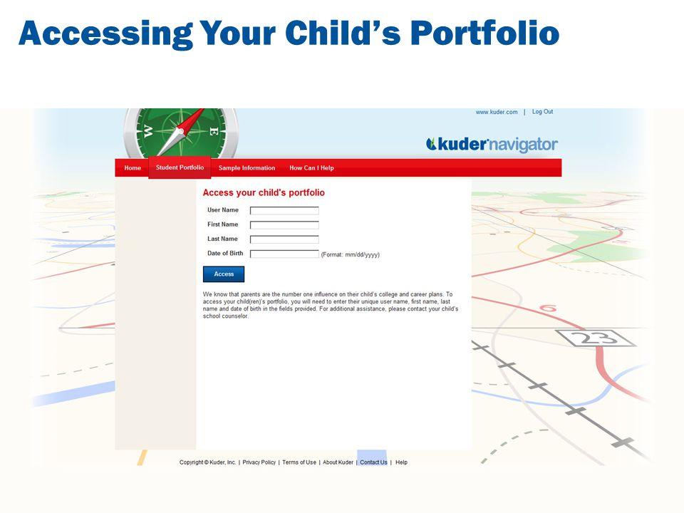 Accessing Your Child's Portfolio