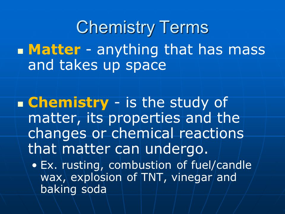 Elements - pure substances that CANNOT be broken down into simpler substances by regular laboratory conditions; made up of 1 type of atom.