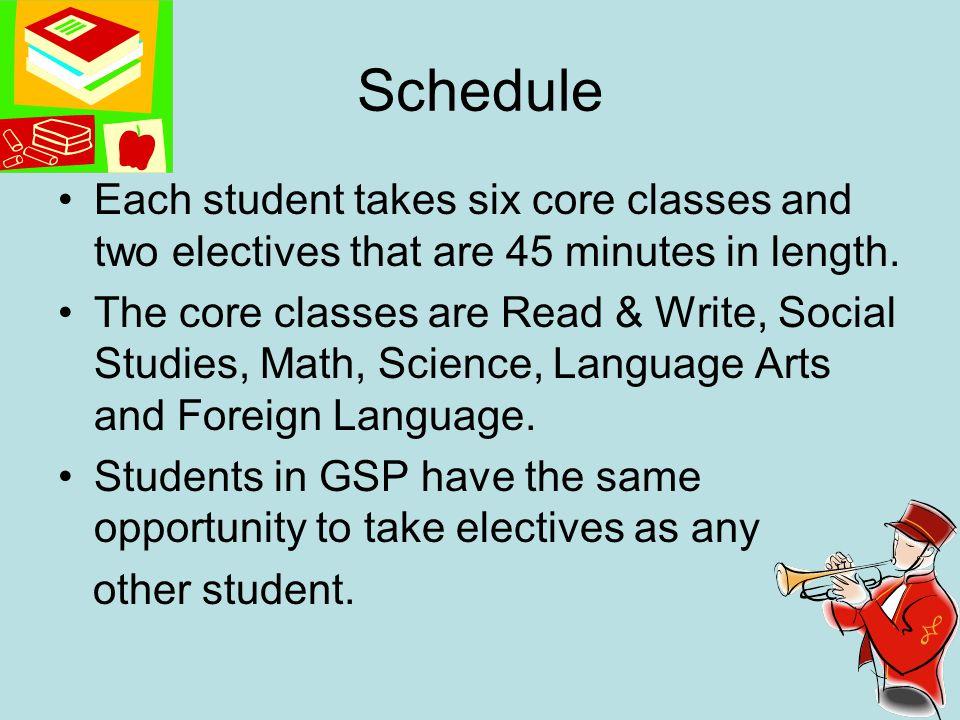 Blocked Schedule 7 th grade – LA/Social Studies R&W/Foreign Language Math/Science 8 th grade – LA/Social Studies R&W/Science Math/Foreign Language