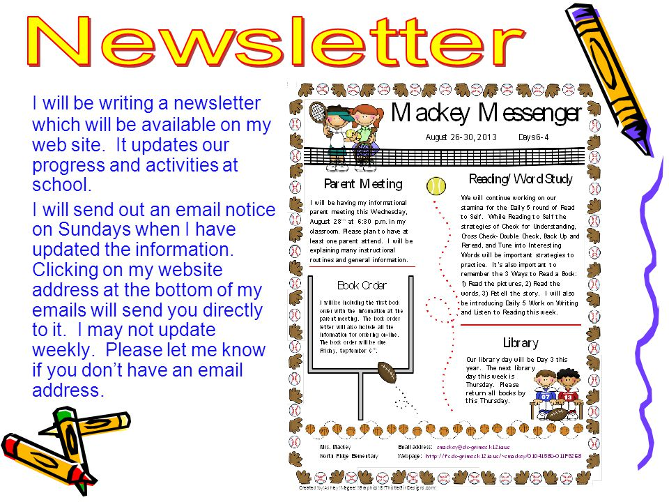 I will be writing a newsletter which will be available on my web site.
