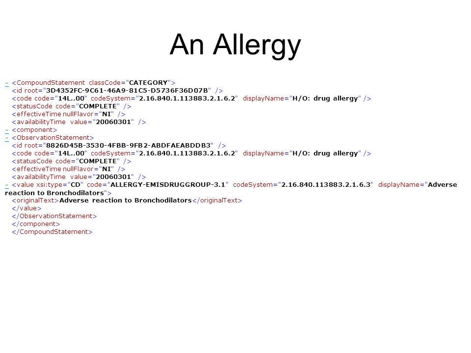 An Allergy - - - Adverse reaction to Bronchodilators