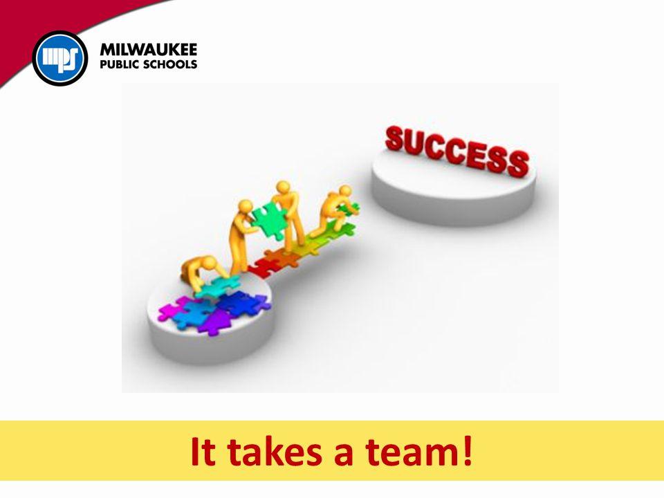 It takes a team!