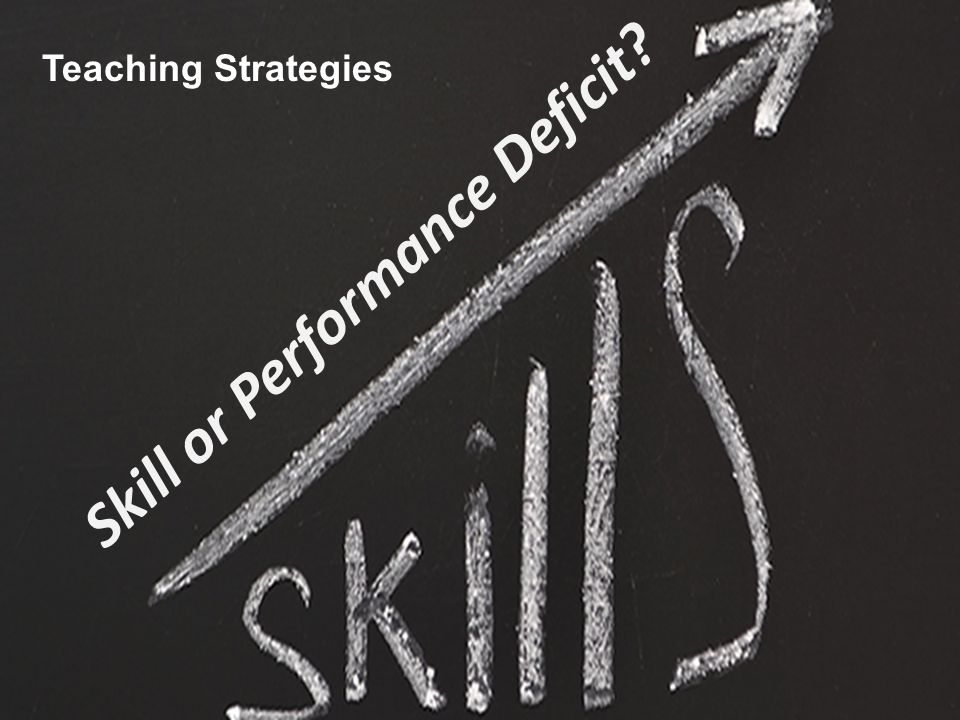Skill or Performance Deficit? Teaching Strategies