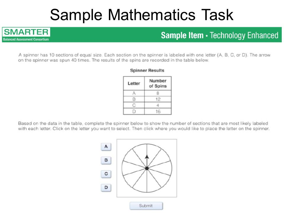Sample Mathematics Task