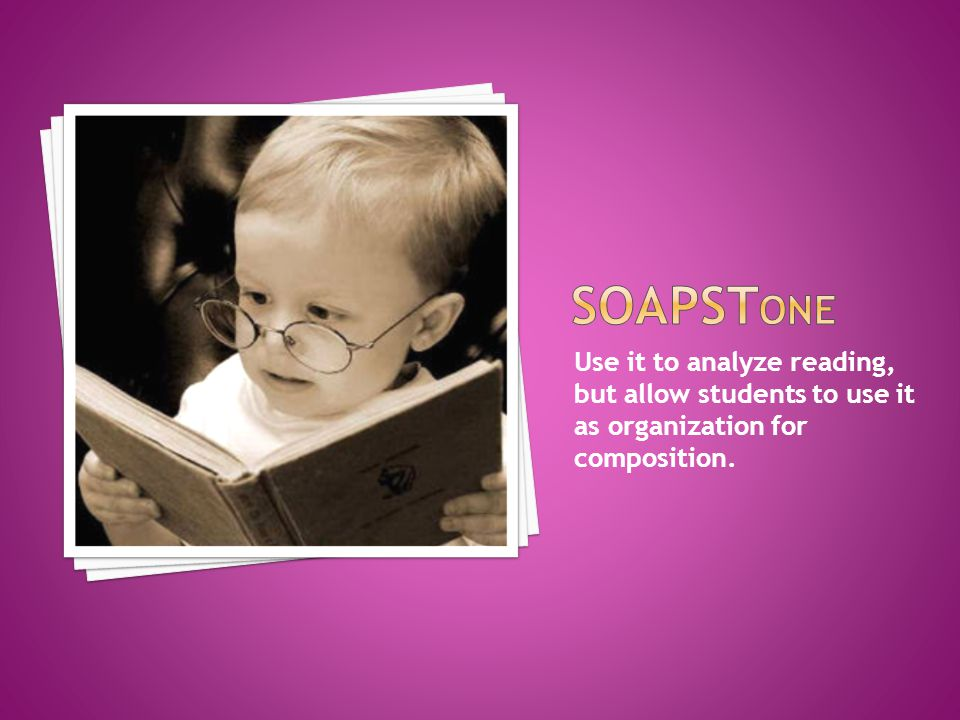 Use it to analyze reading, but allow students to use it as organization for composition.