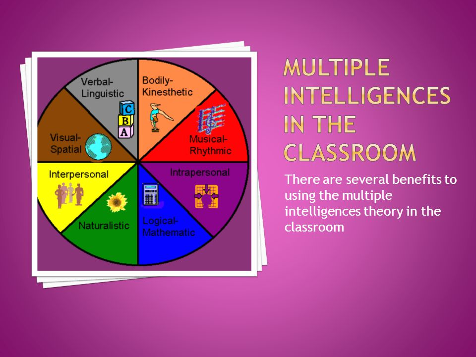 There are several benefits to using the multiple intelligences theory in the classroom