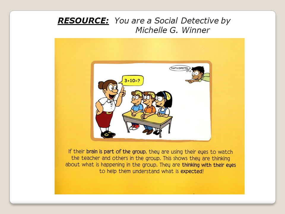 RESOURCE: You are a Social Detective by Michelle G. Winner