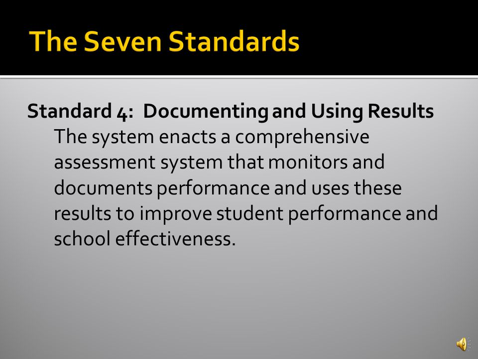 Standard 3: Teaching and Learning The system provides research-based curriculum and instructional methods that facilitate achievement for all students.