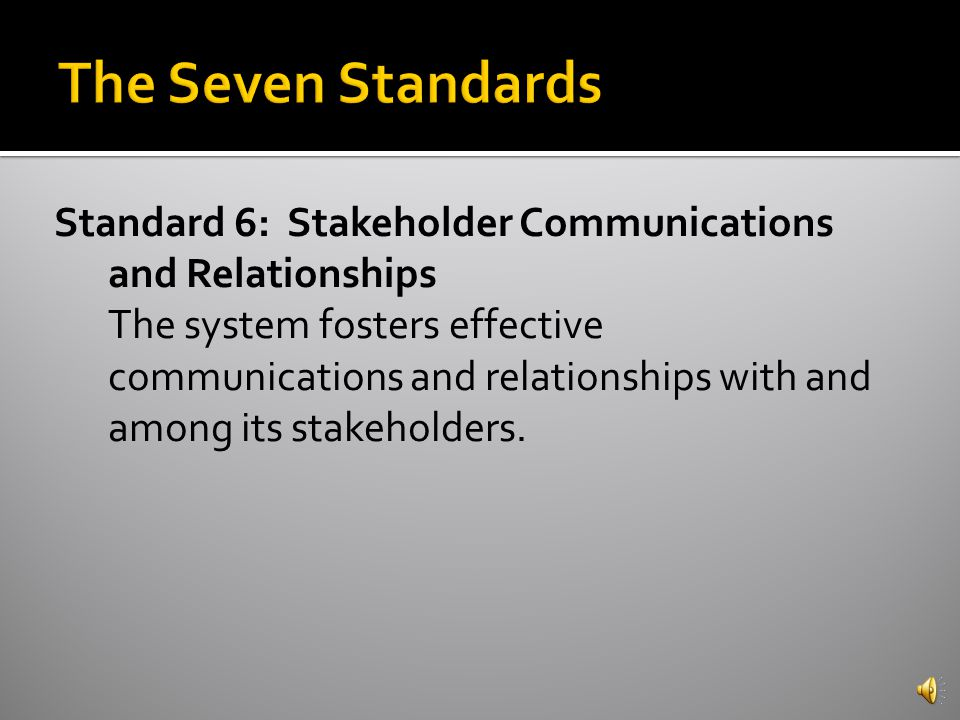 Standard 5: Resources and Support Systems The system has the resources and services necessary to support its vision and purpose and to ensure achievement for all students.