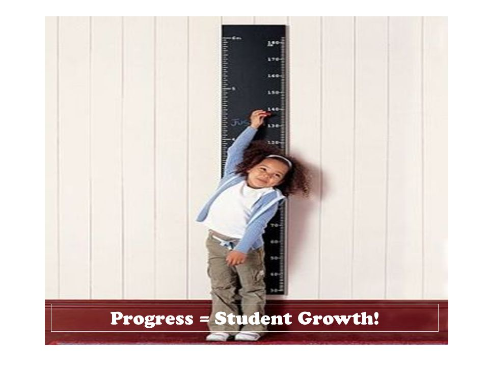 Progress = Student Growth!