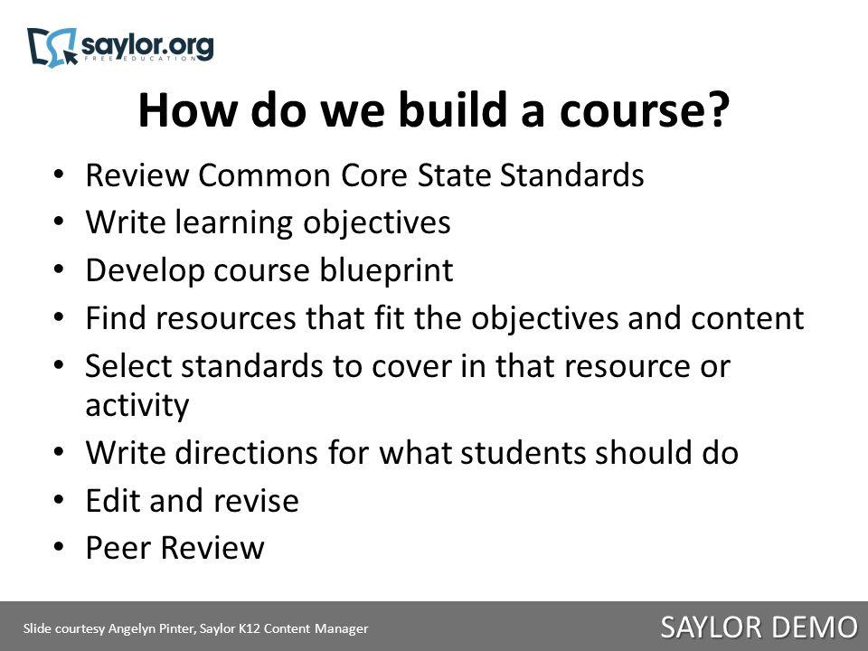 How do we build a course.