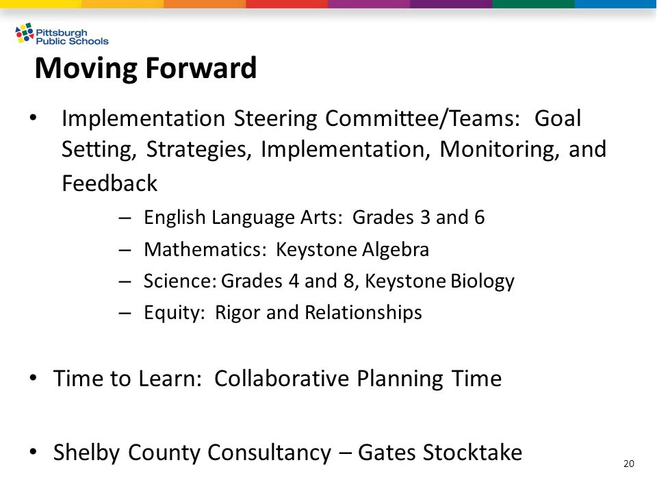Moving Forward Implementation Steering Committee/Teams: Goal Setting, Strategies, Implementation, Monitoring, and Feedback – English Language Arts: Gr
